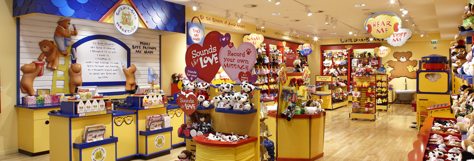 marketing build a bear workshop Image of kids and kids at heart enjoying a build-a-bear workshop  associates  in marketing used to collaborate on global marketing plans.